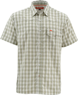<font color=red>On Sale - Clearance</font><br>Simms Big Sky SS Shirt - Dark Khaki Plaid