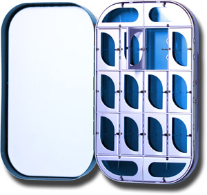 Aluminum Fly Box - 16 Compartment - Blue