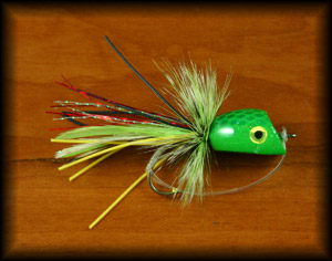 Bubble Diver Popper - Green Frog