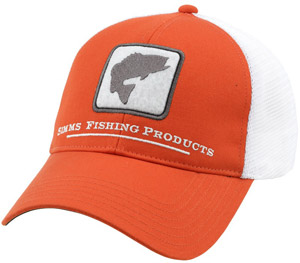 <font color=red>On Sale - Clearance</font><br>Simms Bass Trucker - Fury Orange