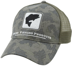 <font color=red>On Sale - Clearance</font><br>Simms Bass Trucker - Simms Camo