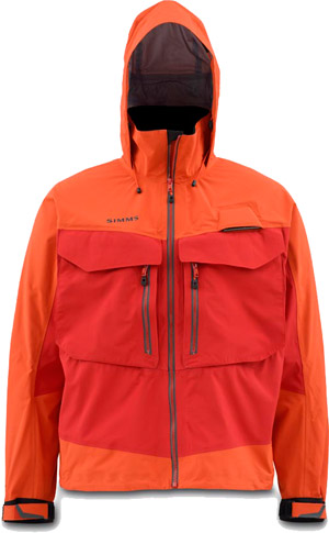 <font color=red>On Sale - Clearance</font><br>Simms G3 Guide Jacket - Fury Orange
