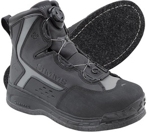 <font color=red>On Sale - Clearance</font><br>Simms Rivertek 2 Boa Boot - Felt - Black