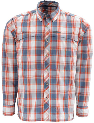 <font color=red>On Sale - Clearance</font><br>Simms Stone Cold LS Shirt - Indigo Plaid