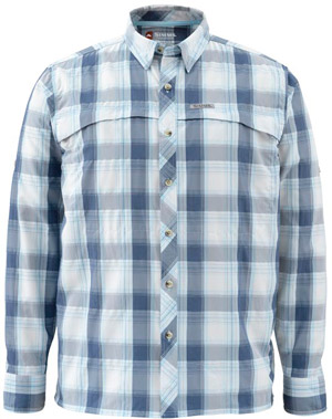 <font color=red>On Sale - Clearance</font><br>Simms Stone Cold LS Shirt - Mist Plaid