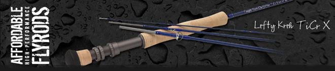 <font color=red>On Sale - Clearance</font><br>TFO Lefty Kreh TiCr X Series Fly Rods - 9' 6wt 4pc (TFO 06 90 4 TX)